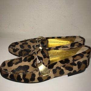 Beverly Feldman animal print loafers